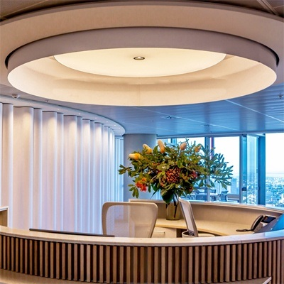 Large circular luminaires for Barangaroo fitout